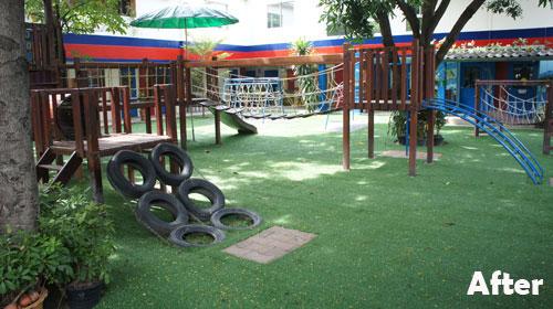 Artificial Grass Playground Area for Bangkok International School ...