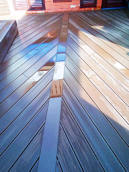 wood plastic composite decks