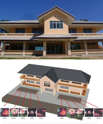 New Thai Garden House Design